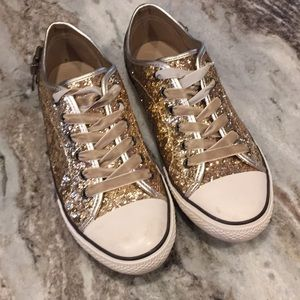 Cute Gold Soarkly Sneakers
